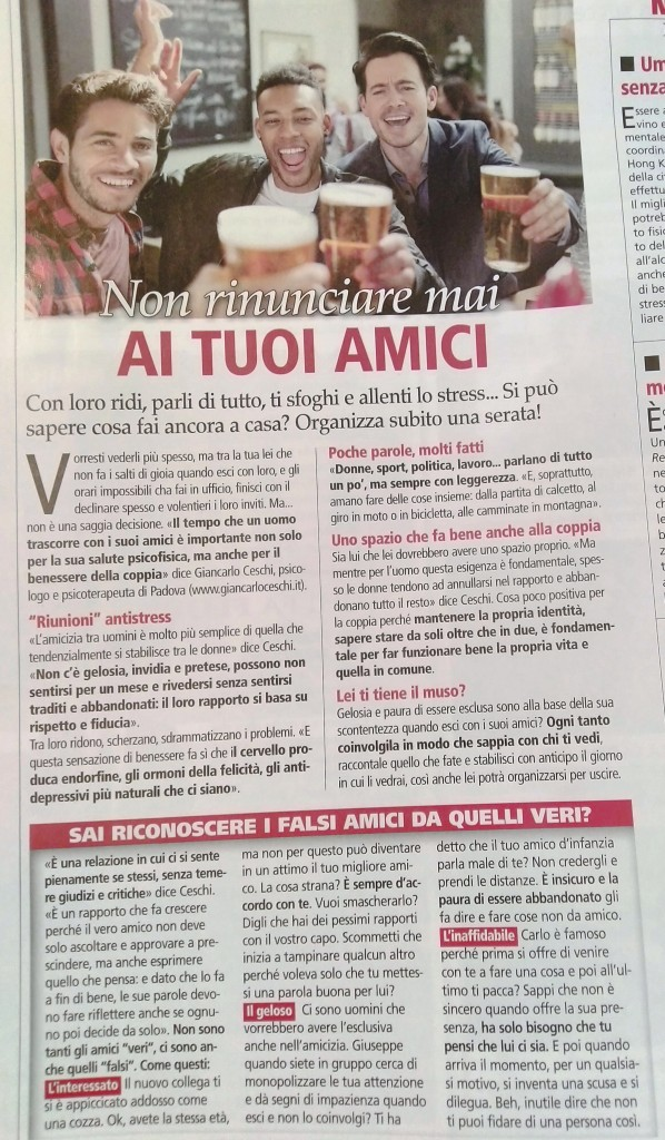 Intervista sul mensile For Men
